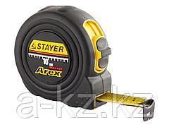 Рулетка измерительная STAYER 3410-10_z01, PROFI AREX, двухкомпонентный противоударный корпус, упрочненное полотно, 10 м х 25 мм