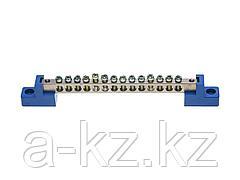 Шина СВЕТОЗАР нулевая на 2-х угловых изоляторах, макс. ток 100А, 5мм, 14 отв., 49808-14