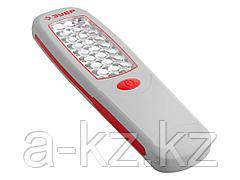 Фонарь светодиодный ЗУБР, 24 LED с линзами, магнит, крючок для подвеса, 3АА, 61814