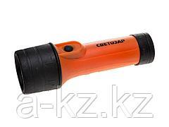 Фонарь СВЕТОЗАР ручной с ABS-корпусом и кольцом, криптоновая лампа, 2xD, SV-56385