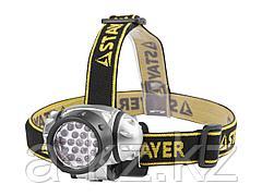 Фонарь налобный  STAYER 56570, светодиодный, 19LED, 4 режима, 3ААА