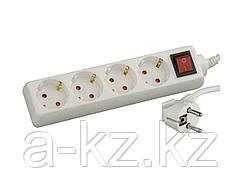 Удлинитель электрический СВЕТОЗАР с заземлением, выключателем, с защитными шторками, евро, 4 гнезда,2м, SV-55045-2