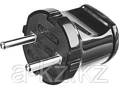 Вилка электрическая STAYER 55150-B, MASTER, 6 А / 220 В, черная
