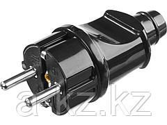 Вилка электрическая STAYER 55160-B, MASTER, с заземлением, 16 А / 220 В, черная