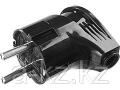Вилка электрическая STAYER 55161-B, MASTER, с заземлением, угловая, 16 А / 220 В, черная