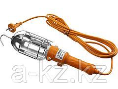 Светильник переносной STAYER 56061, MASTER, открытого типа с выключателем, 60 Вт, 220 В, 5 м