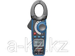 Мультиметр цифровой ЗУБР 59824, PRO-824, ПРОФИ, токоизмерительные клещи, пробник и тестер напряжения