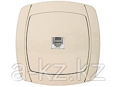 Розетка СВЕТОЗАР CITY LIGHT телефонная одинарная в сборе, цвет бежевый, SV-54217-B
