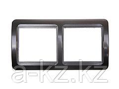 Панель СВЕТОЗАР ГАММА  накладная, горизонтальная, цвет темно-серый металлик, 2 гнезда, SV-54146-DM