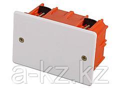 Коробка монтажная СВЕТОЗАР для полых стен, макс. напряжение 400В, с крышкой, 100х100х50мм, прямоугольная, SV-54935