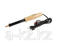 Паяльник электрический ЗУБР 55405-80_z01, МАСТЕР, с деревянной рукояткой и долговечным жалом, форма клин, 80 Вт