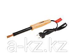 Паяльник электрический ЗУБР 55405-100_z01, МАСТЕР, с деревянной рукояткой и долговечным жалом, форма клин, 100 Вт