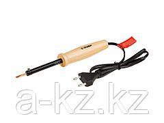 Паяльник электрический ЗУБР 55405-40_z01, МАСТЕР, с деревянной рукояткой и долговечным жалом, форма клин, 40 Вт