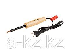 Паяльник электрический ЗУБР 55405-25_z01, МАСТЕР, с деревянной рукояткой и долговечным жалом, форма клин, 25 Вт