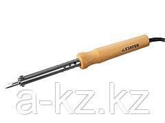 Паяльник электрический STAYER 55310-60, MASTER с деревянной рукояткой и долговечным жалом, 60 Вт, клин