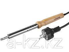 Паяльник электрический STAYER 55310-100, MASTER с деревянной рукояткой и долговечным жалом, 100 Вт, клин