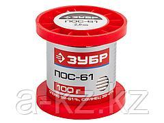 Припой для пайки ЗУБР 55450-100-20, ПОС 61, проволока, 100 г, 2 мм