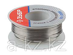 Припой для пайки ЗУБР 55420-100, оловянно-свинцовый, 60% Sn / 40% Pb, 100 гр