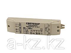 Трансформаторы для галогенных ламп СВЕТОЗАР, электронный, напряжением 12В, 2 входа/3 выхода с двух сторон, 35-105Вт, SV-44963