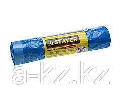 Мешки для мусора STAYER Comfort завязками, голубые, 30л, 20шт, 39155-30