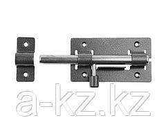 Шпингалет  ЗД-01 для дверей, корпус-порошковое покрыт/стержень-покрыт цинк, серебро, круг засов 14мм, 64х115мм, 37772-1
