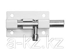 Шпингалет для окон и мебели ШП-40 БЦ, цвет белый/цинк, 40мм, 37751-40