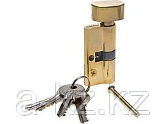 Механизм цилиндровый ЗУБР МАСТЕР, тип ключ-защелка, цвет латунь, 5-PIN, 60мм, 52103-60-1