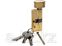 Механизм цилиндровый ЗУБР МАСТЕР, тип ключ-защелка, цвет латунь, 5-PIN, 70мм, 52103-70-1