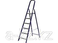 Лестница стремянка СИБИН 38803-06, стальная, 6 ступеней, 124 см