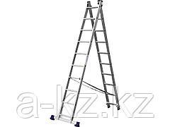 Лестница стремянка СИБИН 38823-10, универсальная, двухсекционная, 10 ступеней