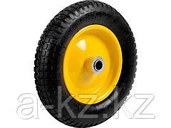 Колесо для тачки пневматическое с подшипником GRINDA 422407, 360 мм, подходит для тачек артикул 422394, 422397, 422400