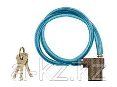Замок для велосипеда тросовый ЗУБР 3720-6-01_z01, МАСТЕР велосипедный, дисковый механизм секрета, ключ 7 PIN, 600 мм