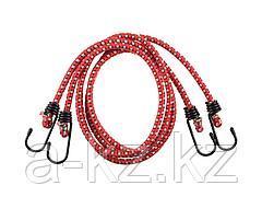 Шнур ЗУБР МАСТЕР резиновый крепежный со стальными крюками, 120 см, d 8 мм, 2 шт, 40507-120
