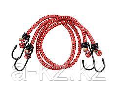 Шнур STAYER MASTER резиновый крепежный со стальными крюками, 120 см, d 7 мм, 2 шт, 40505-120_z01