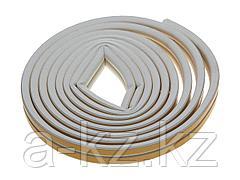 Уплотнитель ЗУБР резиновый самоклеящийся, профиль D, белый, 6м, 40920-006