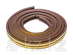 Уплотнитель ЗУБР резиновый самоклеящийся профиль D, коричневый, 6м, 40930-006