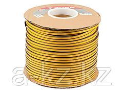 Уплотнитель ЗУБР резиновый самоклеящийся профиль D, коричневый, 150м, 40930-150
