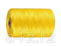 Шпагат полипропиленовый ЗУБР 50037-500, желтый, 1200 текс, 500 м