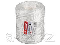 Шпагат полипропиленовый ЗУБР 50100-500, 1,6 мм х 500 м, 1 ктекс, цвет белый