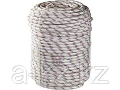 Фал плетёный полипропиленовый СИБИН 50215-08, 16-прядный с полипропиленовым сердечником, диаметр 8 мм, бухта 100 м, 520 кгс