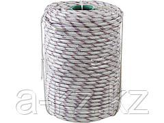 Фал плетёный полипропиленовый СИБИН 50215-10, 24-прядный с полипропиленовым сердечником, диаметр 10 мм, бухта 100 м, 700 кгс