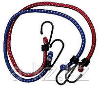 Шнур ЗУБР крепежный резиновый, со стальными крюками, 80см, 2шт