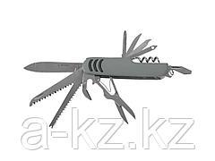 Нож мультитул ЗУБР МАСТЕР складной многофункциональный, 12 в 1, обрезиненная рукоятка, 47780