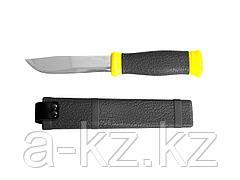 Нож STAYER PROFI, туристический, пластиковые ножны, лезвие-110мм, 47630