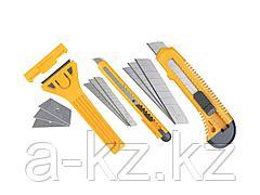 Нож строительный STAYER 0941, STANDARD, скребки для ремонта, набор 6 предметов