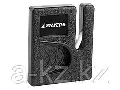 Точилка STAYER MASTER, для ножей, компактная, керамическая рабочая часть, 47511