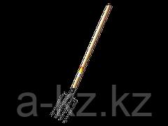 Вилы GRINDA кованые, навозные 4 круглых зубца, с черенком, 180х300x1330мм