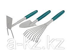 Набор садовых инструментов RACO 4225-53/477, 3 предмета: совок 4207-53481, мотыжка -53486, грабли веерные -53492