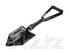 Лопата GRINDA складная, саперная, металлическая ручка, 240 / 578 мм, 39470_z01
