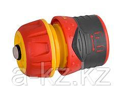 Соединитель GRINDA Premium с автостопом и запирающим механизмом, пластмассовый с TPR, 1/2, 8-426431